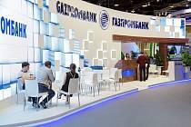 Pobočka banky Gazprombank v ruském Petrohradu