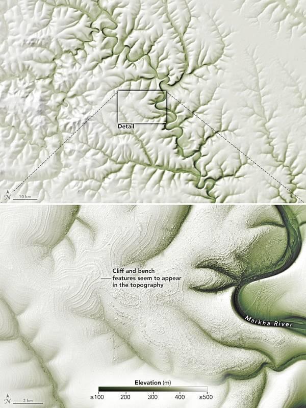 Pruhy mohlo také vytvořit střídání strmějších a rovnějších ploch a eroze na nich