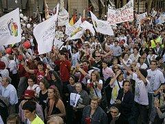 Víc než milion lidí v ulicích: tak vypadal ovíkendu Madrid