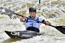 Vít Přindiš  na ME ve vodním slalomu.