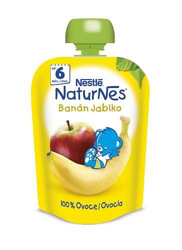Nestlé Naturnes banán jablko kapsička