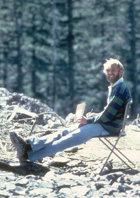 Geolog a vulkanolog David A. Johnston (výřez)