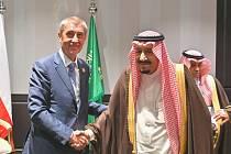 Andrej Babiš se saúdským králem Salmánem
