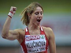 Vícebojařka Eliška Klučinová vybojovala na halovém ME v Praze bronz.