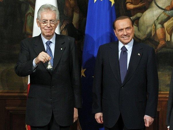 Mario Monti a Silvio Berlusconi