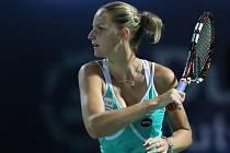 Karolína Plíšková ve finále turnaje v Dubaji.