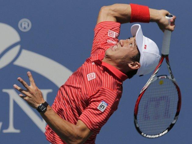 Kei Nišikori v semifinále US Open.