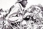 Poslední snímek velitele 96. pěší divize americké armády generála Claudia Millera Easleyho, jenž se stal obětí kulometné palby
