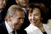 Václav Havel s Livií Klausovou