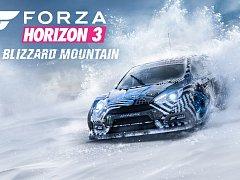 Počítačová hra Forza Horizon 3: Blizzard Mountain.
