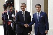 Andrej Babiš a italský premiér Giuseppe Conte