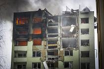 Ve dvanáctipatrovém bytovém domě v Prešově na východě Slovenska 6. prosince 2019 vybouchnul plyn. Na snímku trosky domu