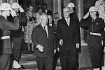 Nikita Sergejevič Chruščov se švédským králem Gustavem