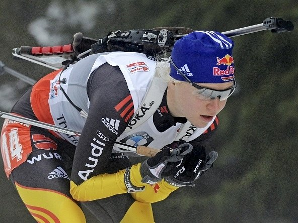 Německá biatlonistka Miriam Gössnerová.