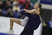 Anna Dušková a Martin Bidař při volné jízdě.