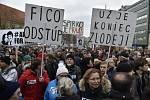Protestní akce v Bratislavě