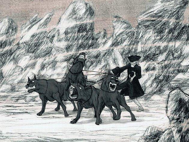 Hrozivý průvodce a jeho diví vlci od výtvarníka Christiana Hinckera známého pod pseudonymem Blutch propojují volně všechny povídky a při tom vypráví svůj vlastní příběh.
