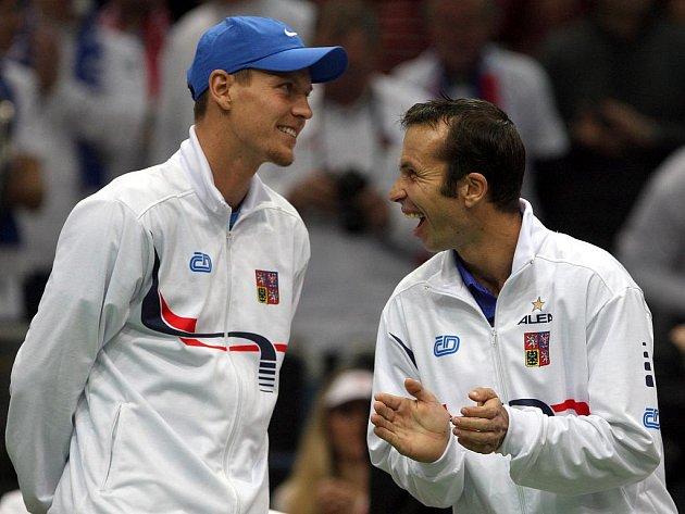 Tomáš Berdych (vlevo) a Radek Štěpánek.