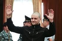 Sergej Udalcov po vynesení rozsudku v roce 2014.