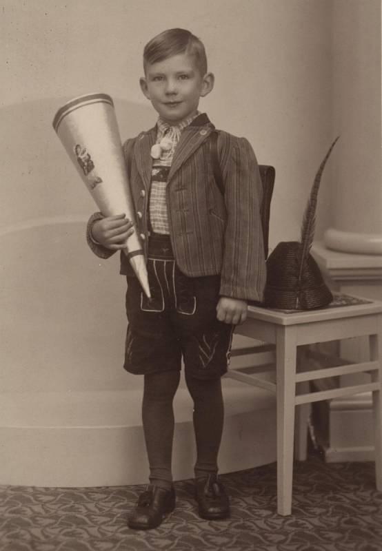 Walter Sitte, první školní den (1941)