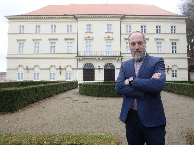 Majitel hradu a zámku v Boskovicích na Blanensku Dominik Božek z rodu Mensdorff-Pouilly.