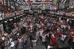 Angličtí fanoušci během finále Eura v Londýně.