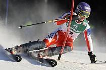 Slalomářka Šárka Záhrobská vyhrála první kolo slalomu v Aare, celkově skončila třetí.