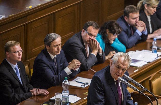 Prezident Miloš Zeman navštívil Poslaneckou sněmovnu