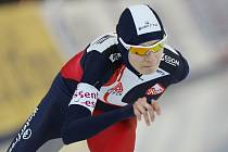 Martina Sáblíková na trati 3000 metrů.