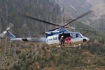 Policejní vrtulník Bell, ilustrační foto