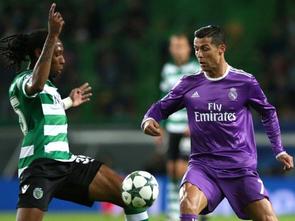 Cristiano Ronaldo z Realu Madrid (vpravo) a Ruben Semedo ze Sportingu Lisabon.