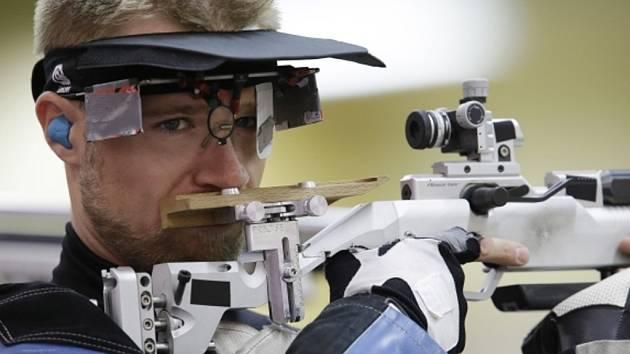 Matthew Emmons na olympijských hrách v Londýně.