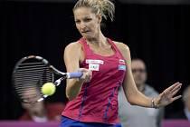 Karolína Plíšková v prvním kole Fed Cupu proti Kanadě.
