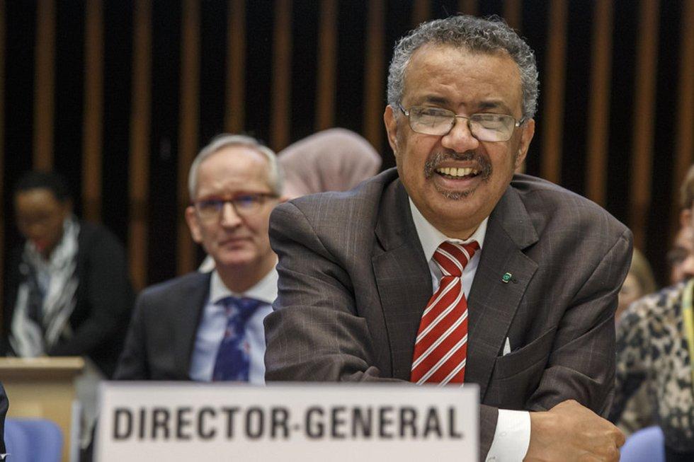 Generální ředitel Světové zdravotnické organizace Tedros Adhanom Ghebreyesus na zasedání WHO v Ženevě 3. února 2020