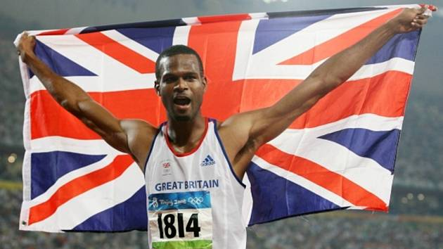 Britský atlet Germaine Mason.