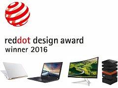 Některé z oceněných Acer produktů.