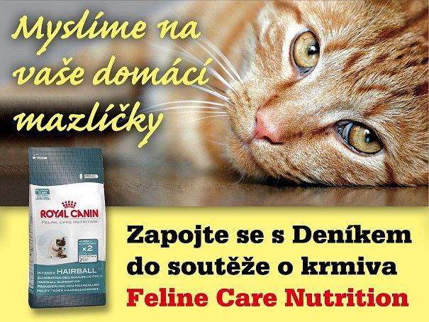 Zapojte se s regionálním Deníkem do soutěže o krmiva Feline Care Nutrition.