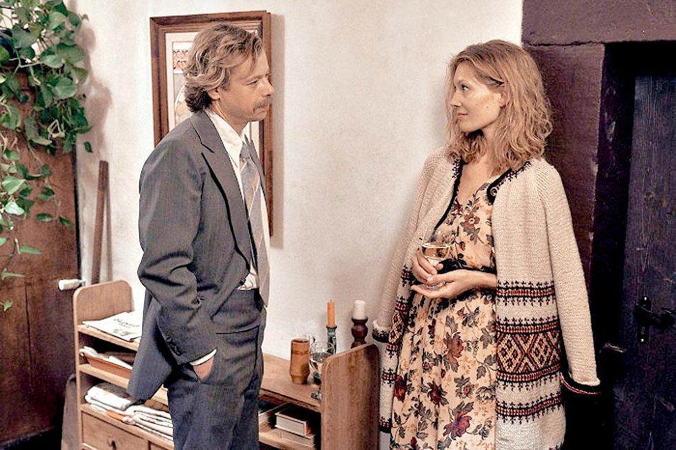 Barbora Seidlová s Viktorem Dvořákem v novém filmu Havel