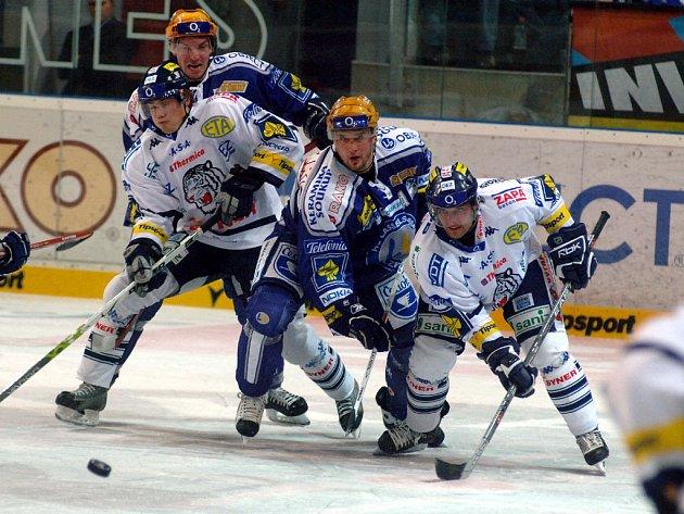 Lasselsberger Plzeň - Bílí Tygři Liberec 3:4 v prodl. (1:0, 2:2, 0:1 - 0:1)