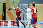 Hattrick! Martina Řepková dala proti Polsku ve druhé třetině dokonce hattrick čistý, který nepřerušil gól soupeřek ani přestávka.