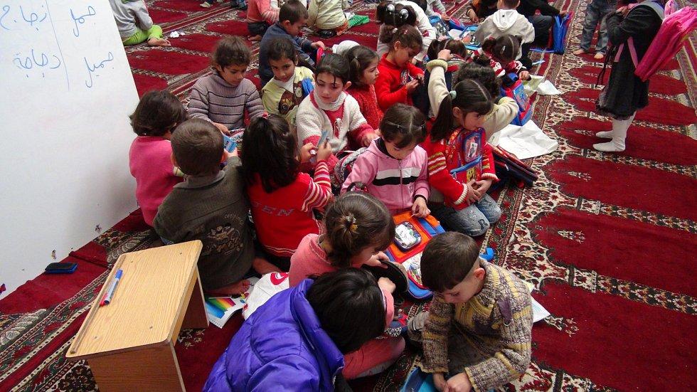 Opravená školka v syrském Aleppu.
