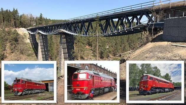 Most přes nádrž Hracholusky.