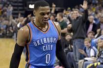 Hvězda Oklahomy Russell Westbrook při utkání v Memphisu.