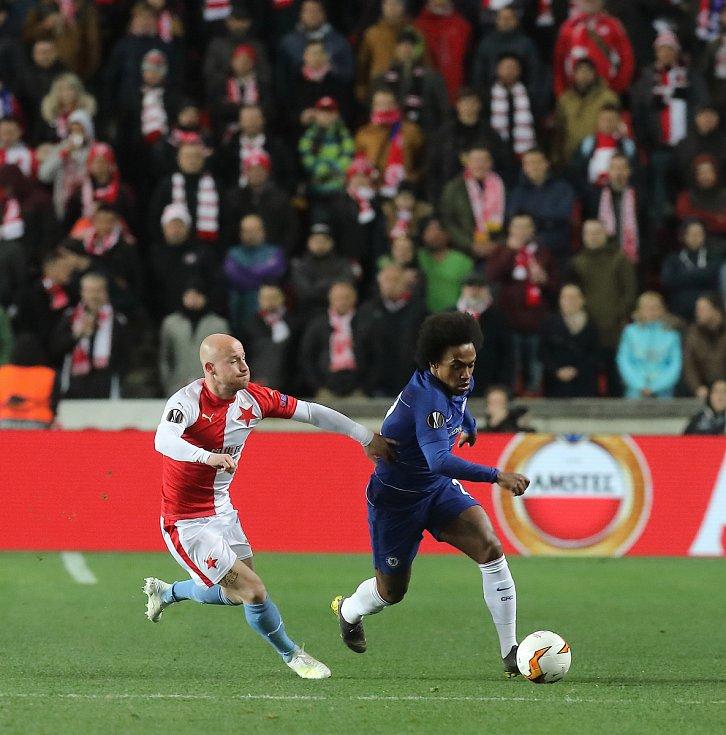 Evropská fotbalová liga SK Slavia Praha - Chelsea FC v Edenu