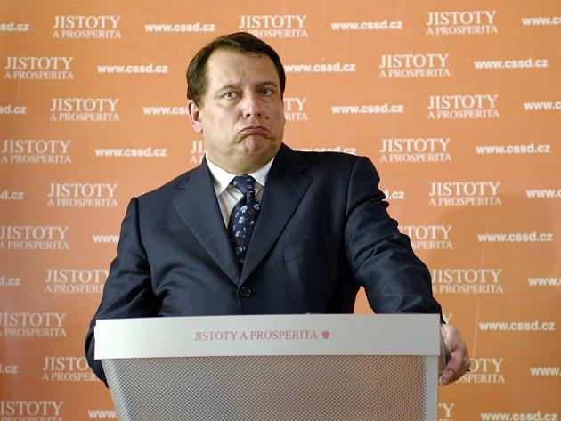 Předseda ČSSD Jiří Paroubek
