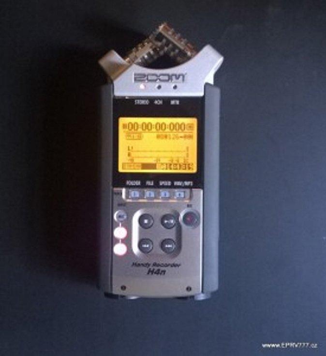 Profesionální záznamník ZOOM H4n slouží k zaznamenání EVP  a zvuků ve vysoké kvalitě.