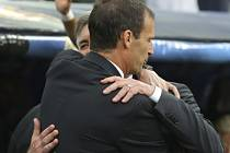 Real Madrid - Juventus Turín: Pozdrav obou trenérů, Carla Ancelottiho a Massimiliana Allegriho