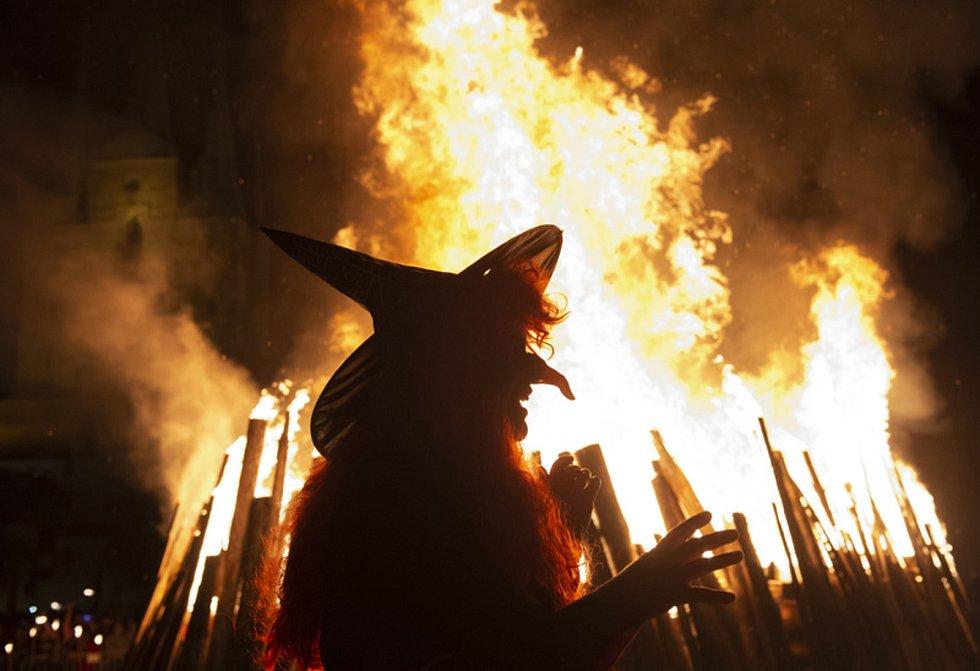 Pálení čarodějnic. Ilustrační snímek