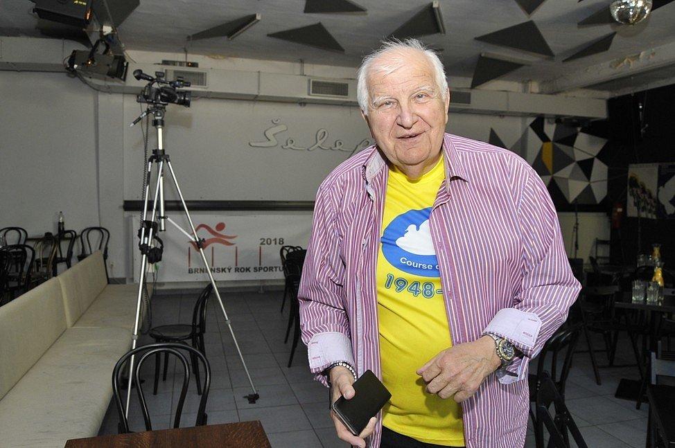 Ota Černý při brněnských oslavách 70. výročí cyklistického Závodu míru