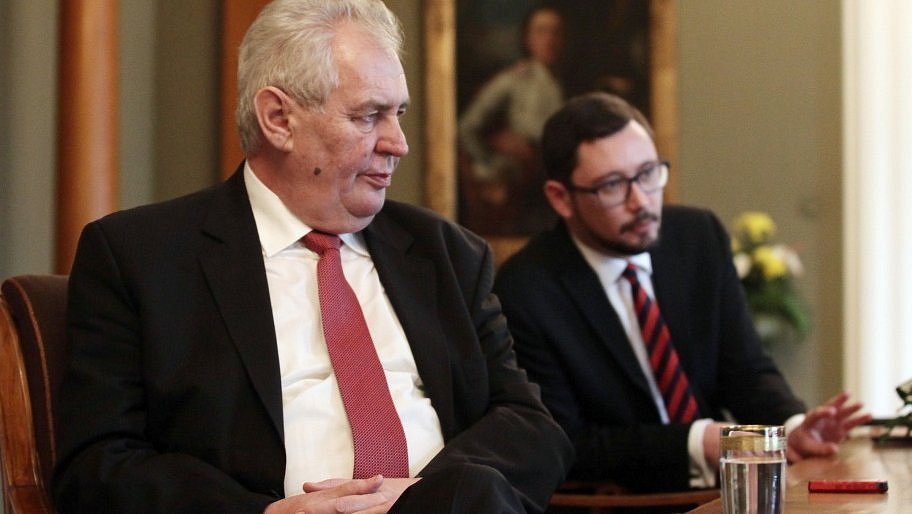 Miloš Zeman a Jiří Ovčáček.